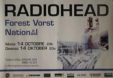 """RADIOHEAD (Concert FOREST VORST NATIONAL)"" Affiche originale 1997"