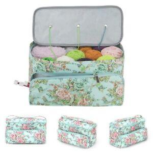 Knitting Yarn Storage Bag Case Crochet Hooks Thread Sewing Kits Organizer Bags