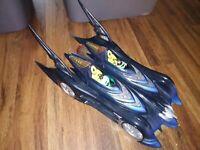 BATMAN Batmobile Dark Knight Double Seated Vehicle Car+2 figures DC Comics RARE