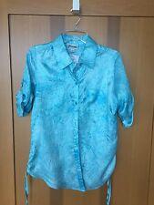 NWT! Joanna Semi Sheer Blue Aqua Ladies Top / Blouse / Shirt Size S Overshirt!