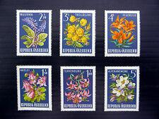 AUSTRIA 1966 Alpine Flowers (6) SG1471/6 U/M MNH SALE PRICE FP5231