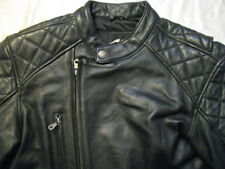 Harley Davidson Leather Jacket H-D Cafe Racer Biker Factory Graphics Mens M