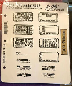 HTF TIM  HOLTZ  RUBBER CLING STAMPS PAPER CRAFT TICKET ODDS AND ENDS
