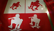 YOUTH ADULT T SHIRT AIRBRUSH STENCILS SKATE BOARD SET OF 4 FAST FREE SHIP!