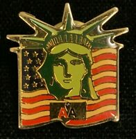 Rare Vintage 1980s American Airlines Statue Of Liberty Advertising Pin! WPIN053