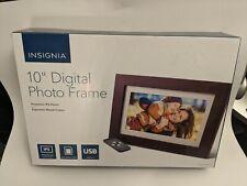 "Insignia 10"" Premium LCD Digital Photo Wood Frame Espresso  NS-DPF10WW-17"