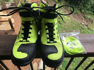 Fly Racing street M21 riding shoes Hi Viz Yellow over black almost new