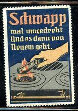 Germany Poster Stamp Gas Burner Flame Lighter Fire