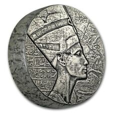 5 oz 999 Silbermünze Republic of Tschad Queen Nofretete 2017 - 3000 Francs