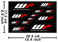 WP Forks Decals Stickers Heavy Duty Graphics Kit Autocollant Aufkleber Adesivi