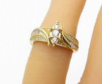 925 Sterling Silver - Petite Topaz Gold Plated Shiny Band Ring Sz 5.5 - R16404