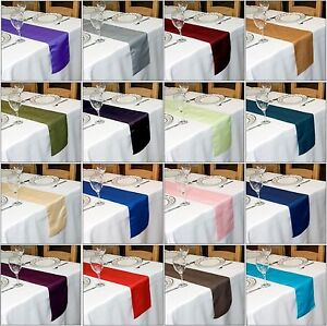TAFFETA TABLE RUNNER  270 cm Long x 22 cm Wide 30COLOURS WEDDING PARTY UK