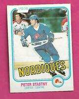 1981-82 OPC # 269 NORDIQUES PETER STASTNY ROOKIE VG CARD (INV# C8070)