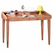 WOHNLING Schreibtisch BOHA Akazie Massiv-Holz 117x76x70 cm / Echt-Holz Sekretär