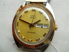 LARGE VINTAGE,1967 TIMEX  DYNABEAT ELECTRIC,GP/SS, + BULOVA BRACELET,SERVICED