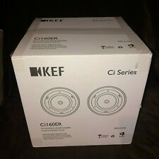 "NEW KEF Ci160ER Round 6"" In-Ceiling Speakers UltraThinBezel 1 PAIR SEALED in BOX"