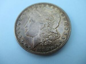 1884 S Morgan Silver Dollar Coin US San Francisco Mint Very High Grade