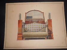 1900 Acquerello raffigurante Mobile Gerson & Wolff Stuttgard Germania