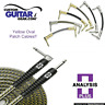Analysis Plus 1ft Yellow Oval Guitar Patch Cable with Straight/Angle Plugs