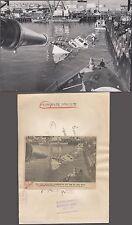 Vintage Press Photo Sinking Ship Miss Behavior Unusual Wreck 260857
