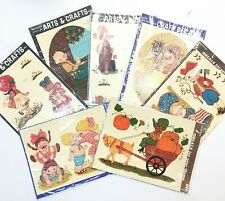 Meyercord Decoupage Tole Decal Lot Arts & Crafts Vintage 70's Country Kids New
