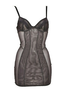 L'Agent By Agent Provocateur Womens Sheer Sleepwear Solid Black Size S