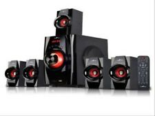 New BEFREE SOUND BFS-410 Bluetooth Home Stereo System with USB and SD Slots–Red