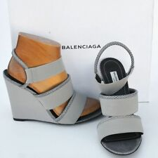BALENCIAGA New sz 40  9.5 Authentic Designer Womens Sandals Heels Shoes open toe
