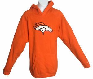 Denver Broncos NFL Team Apparel Pullover Youth Hoodie Orange (Sz: XL 16/18)