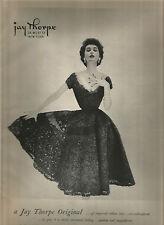 50's Jay Thorpe Fashion Ad  - Dovima 1951
