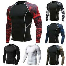 Men's Compression Shirt Performance Long Sleeve Base Layer Thermal Running Tops