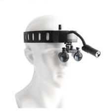 Dental Wireless Headband 5w Led Head Light With 25x Binocular Loupes Us Stock