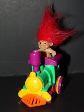 "Troll Doll 2"" Tall Russ Push Pull Trolls on the Go Train Red Hair"