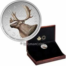 Canada 2016 Big Coins #2 Caribou 25 Cents 5 Troy Oz Silver Color Prf Sub Case