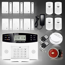 Wireless LCD GSM Intelligent Home Security DIY Burglar House Fire Alarm System