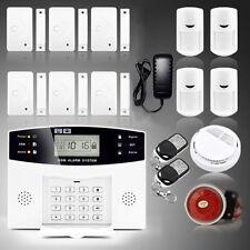Wireless LCD GSM Intelligent Home Security DIY Burglar House Fire Alarm System