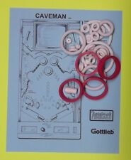 1982 Gottlieb Caveman pinball rubber ring kit