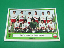 PANINI EURO FOOTBALL 78 N°203 ZAGLEBIE SOSNOWIEC POLSKA POLOGNE 1977-1978