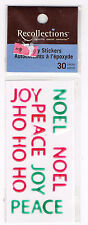RECOLLECTIONS CHRISTMAS WORDS EPOXY STICKERS BNIP