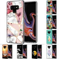 Thin Gel Design Phone Case Cover for Samsung Galaxy Note 9,Marble Stylish Print