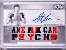 2012 TOPPS UFC TRIPLE THREADS WHITE WHALE STEPHAN BONNAR 3C PATCH AUTO 1/1