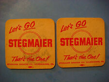 2 BEER COASTERS: Let's Go Stegmaier, That's the One - Wilkes-Barre PENNSYLVANIA