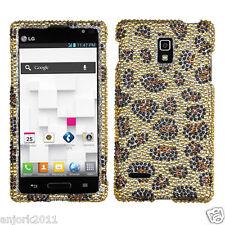 LG Optimus L9 T-Mobile P769 Diamond Case Cover Accessory Yellow Leopard