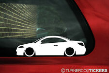 2x LOW Renault Megane cc convertible (Mk2) Outline / Silhouette stickers, Decals