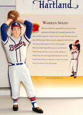 "WARREN SPAHN Boston Braves Hall Of Fame Pitcher 2002 7"" Hartland Figurine Figure"