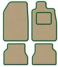 Fiat Barchetta LHD 95- Velour Beige/Green Trim Car mat set