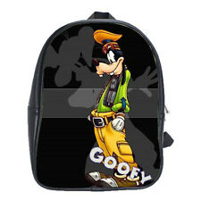 Women Men School Backpacks Bag Leather Goofy Disney Cartoon Travel Notebook Bags