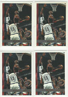 ( 4 ) Card Lot 1997 Topps Michael Jordan Chicago Bulls #123 HOF