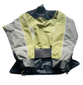 NRS Triton Flux Dry Top Jacket Green/Gray Size Small RN#94612 EUC
