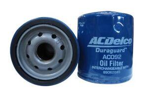 Oil Filter Acdelco ACO92 Z663 for Commodore ZB VE 6.0L VF 6.2L Equinox Spark Cap